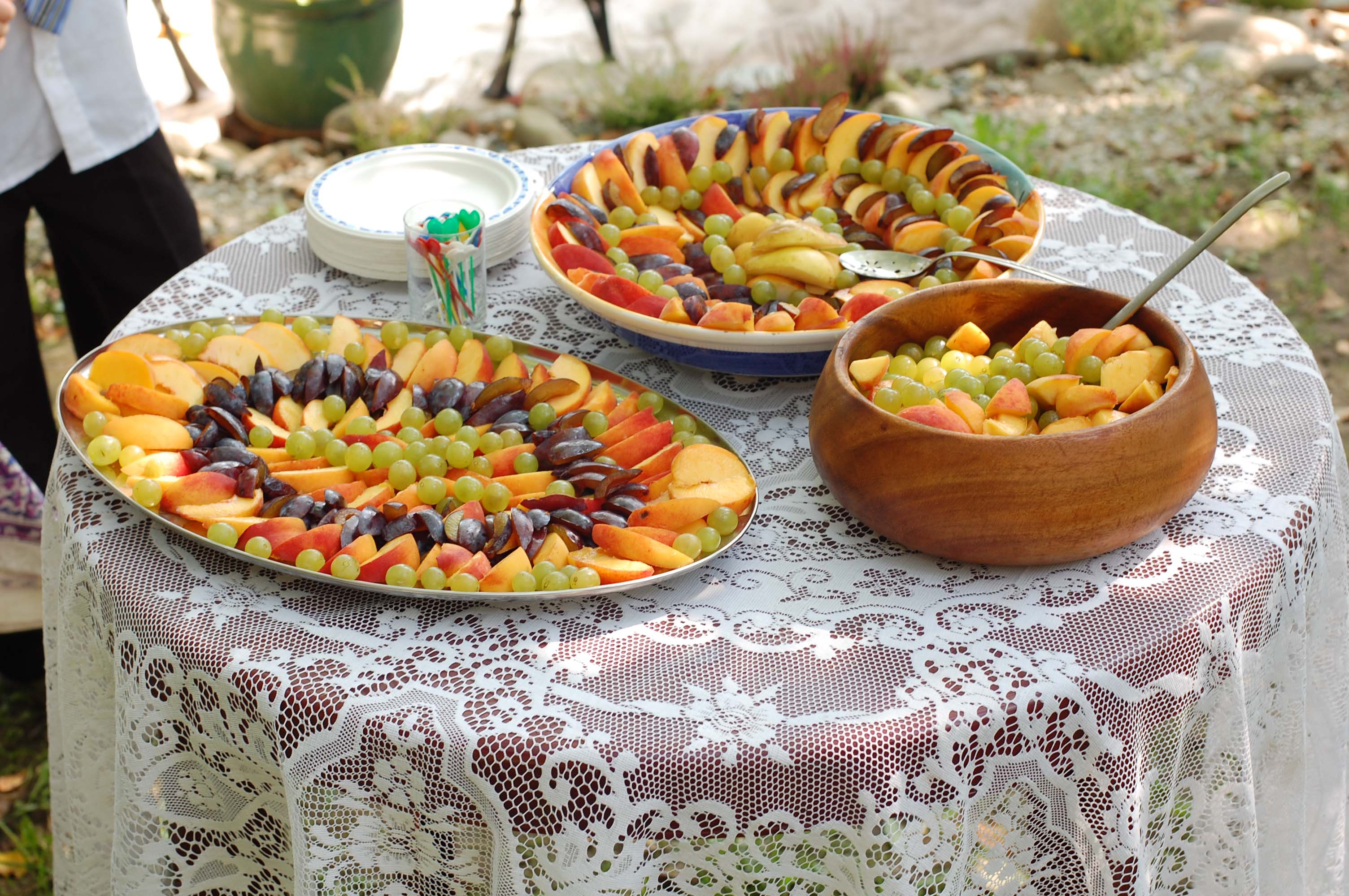 Festive Fruit Salad at wedding reception 12221425455
